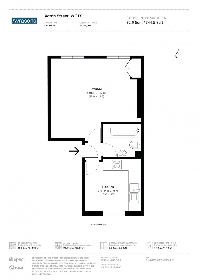 Floorplan for ACTON STREET, KINGS CROSS