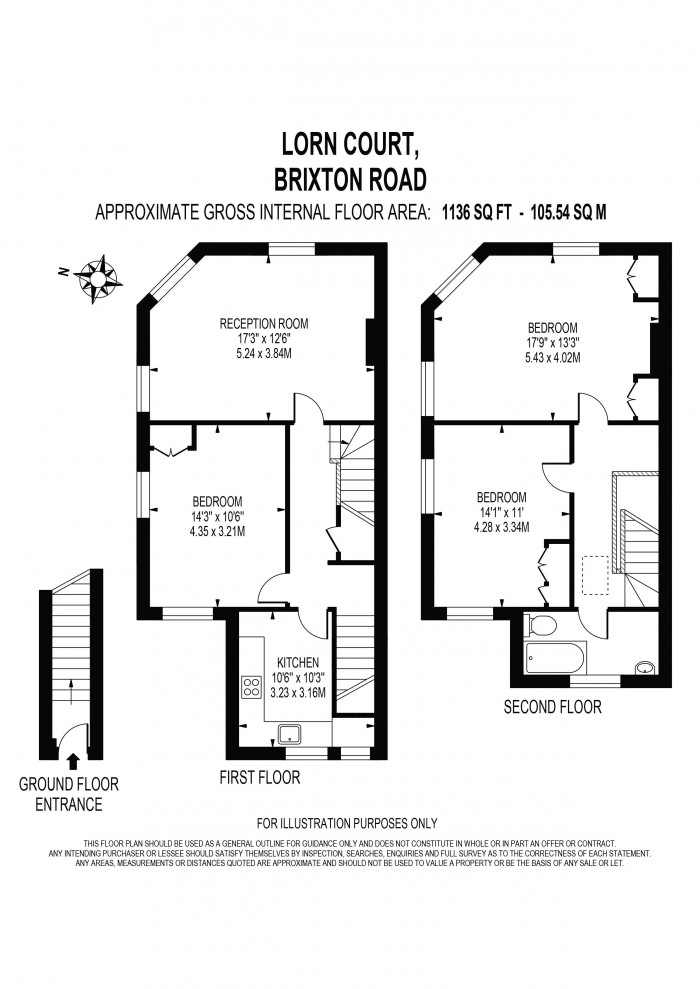 Floorplan for LORN ROAD, STOCKWELL