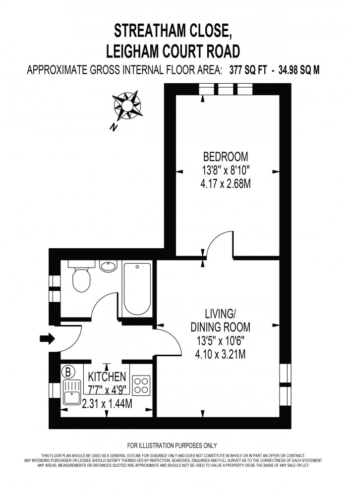 Floorplan for STREATHAM CLOSE, STREATHAM HILL