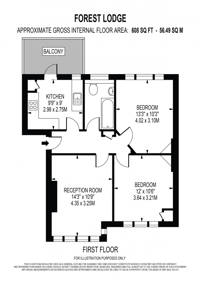 Floorplan for FOREST HILL, LONDON