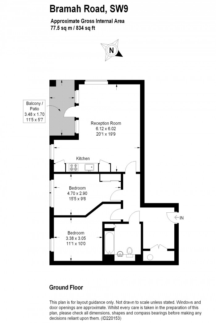 Floorplan for OVAL QUARTER, OVAL