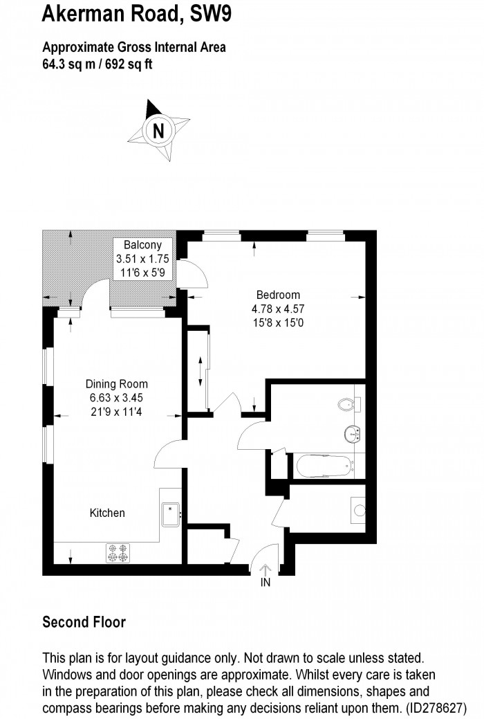 Floorplan for AKERMAN ROAD, OVAL QUARTER