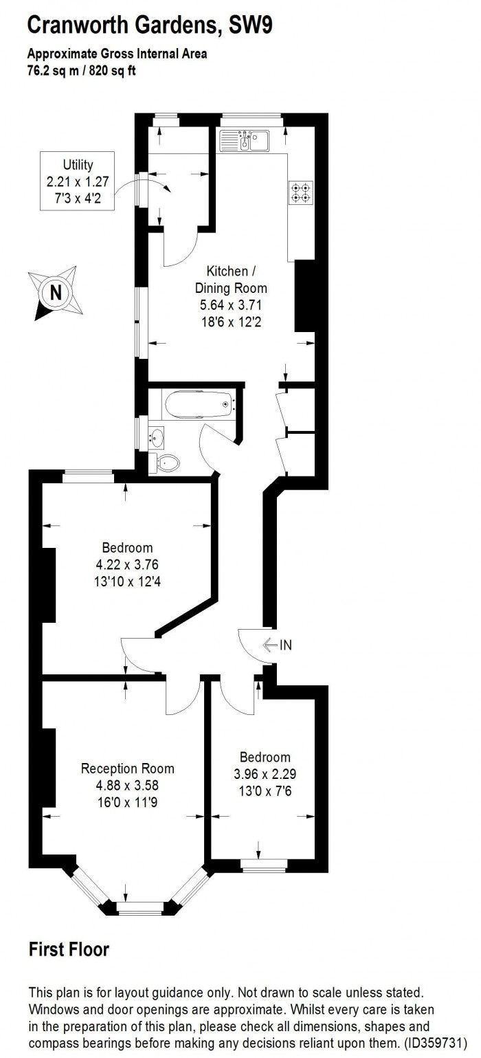 Floorplan for CRANWORTH GARDENS, OVAL
