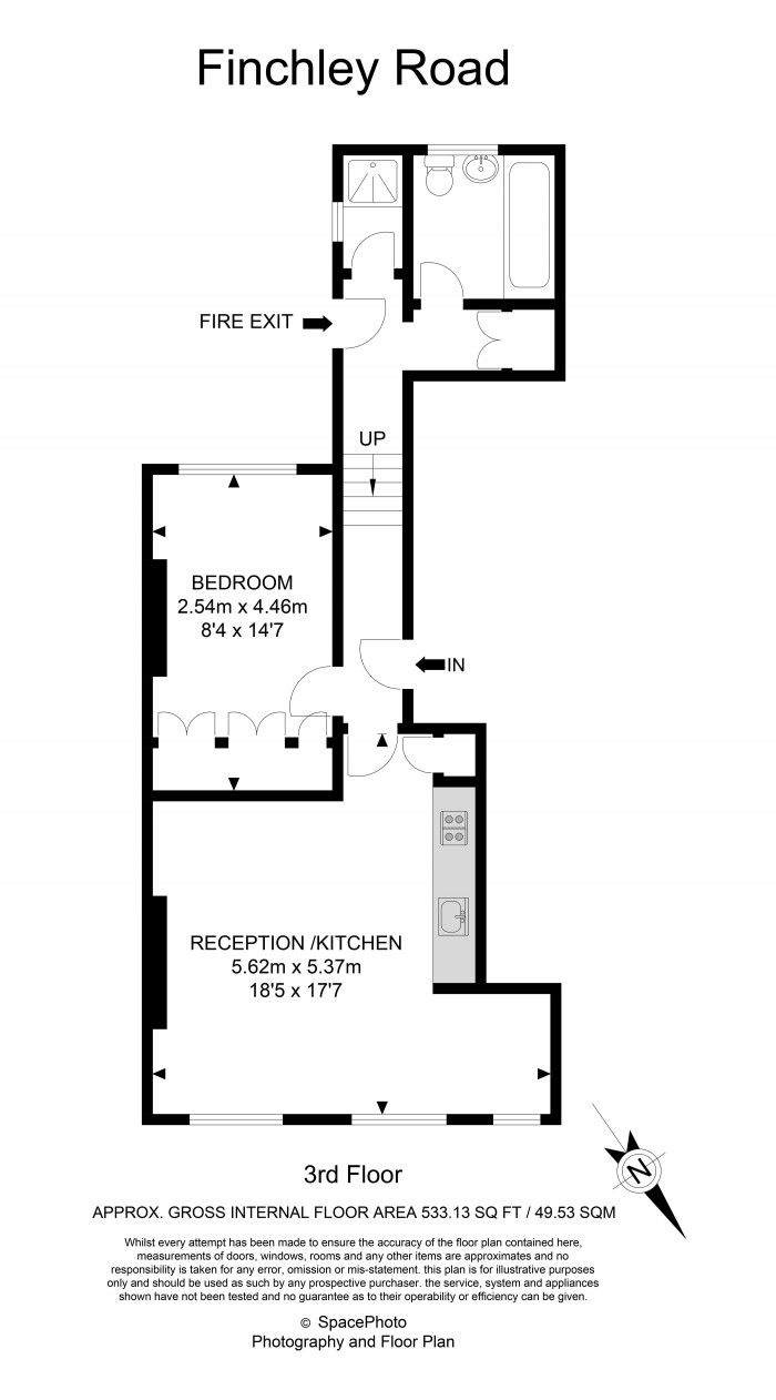 Floorplan for FINCHLEY ROAD, FINCHLEY