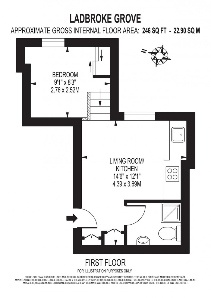 Floorplan for LADBROKE GROVE, LONDON