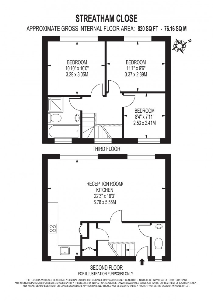 Floorplan for LEIGHAM COURT ROAD, STREATHAM HILL,