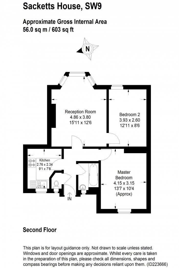 Floorplan for COWLEY ROAD, OVAL