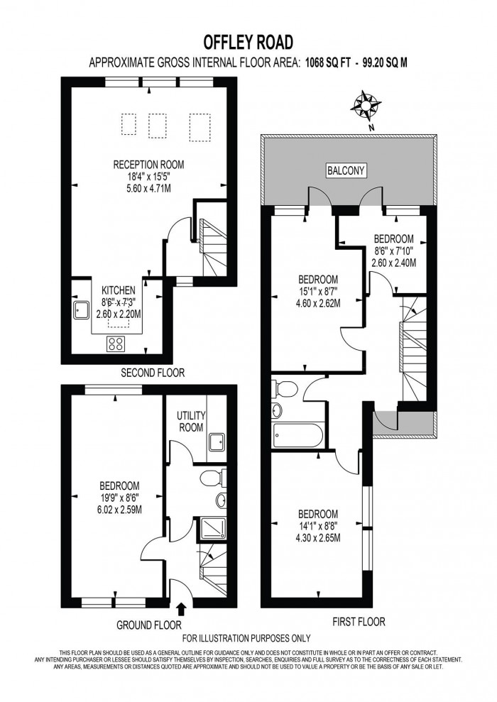Floorplan for OFFLEY ROAD, OVAL,