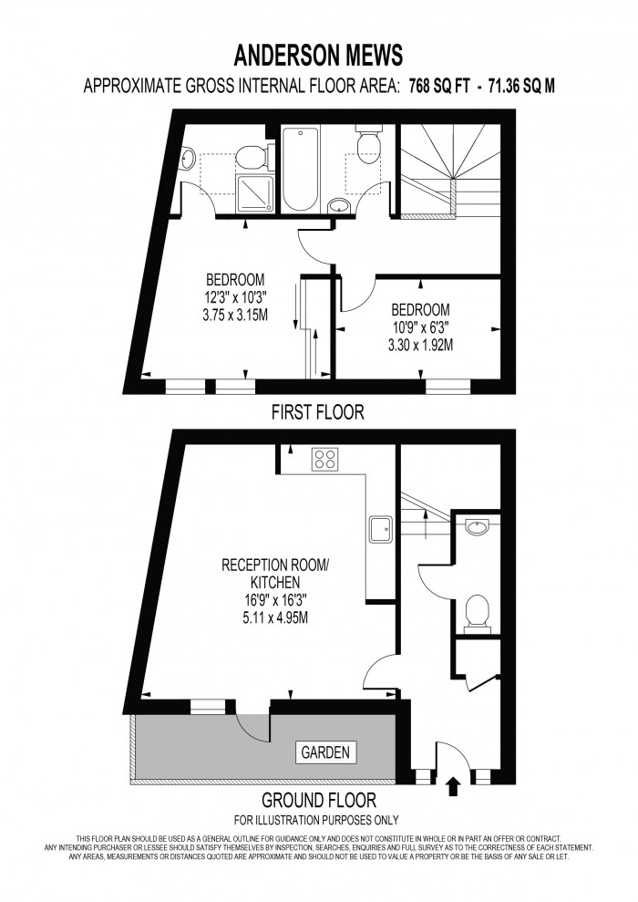 Floorplan for ANDERSON MEWS, OVAL