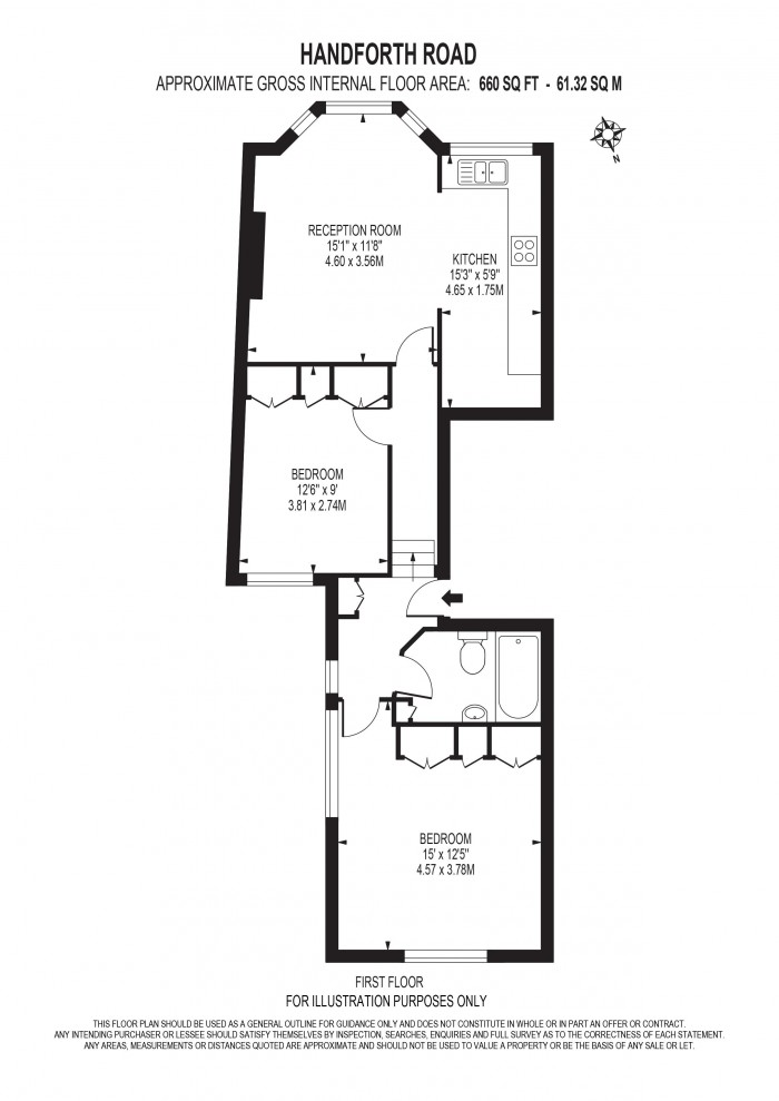 Floorplan for HANDFORTH ROAD, OVAL