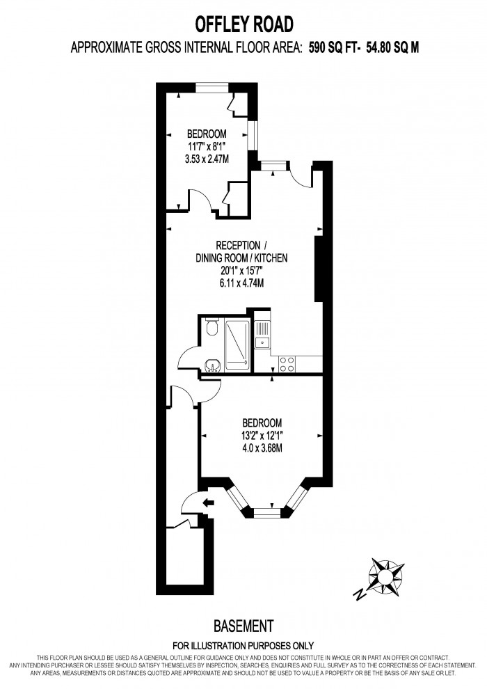 Floorplan for OFFLEY ROAD, OVAL