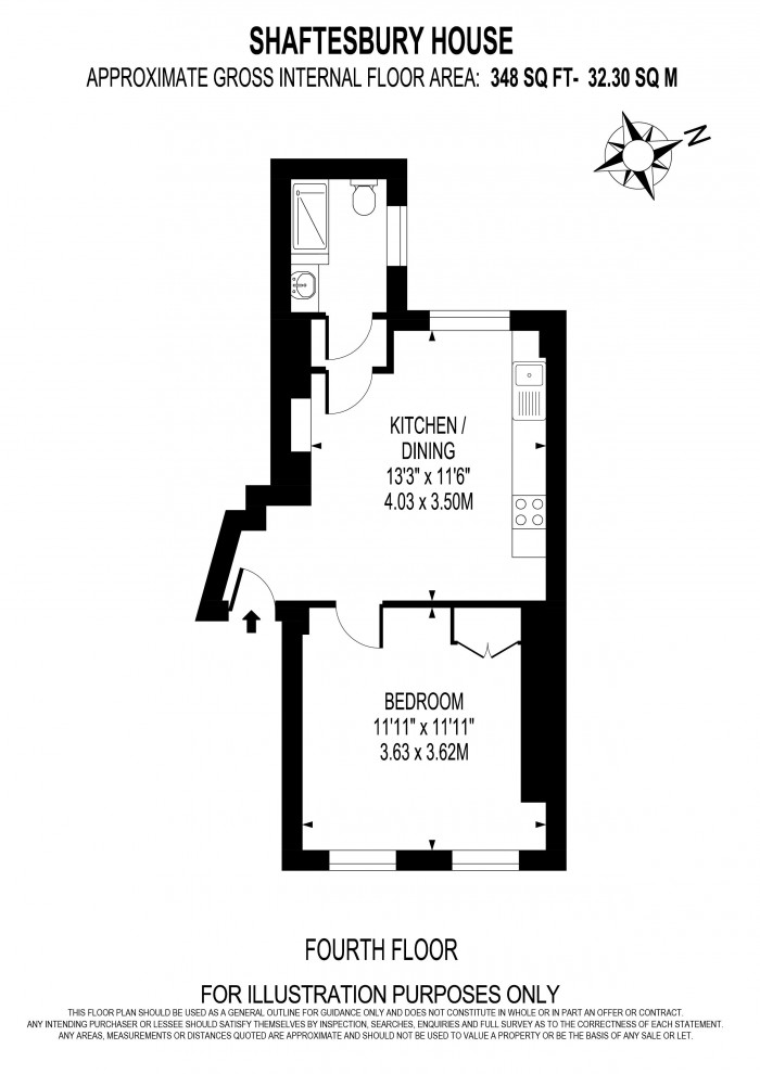Floorplan for SHAFTESBURY HOUSE, VAUXHALL