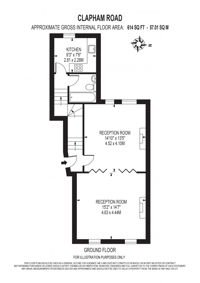 Floorplan for Clapham Road, Oval