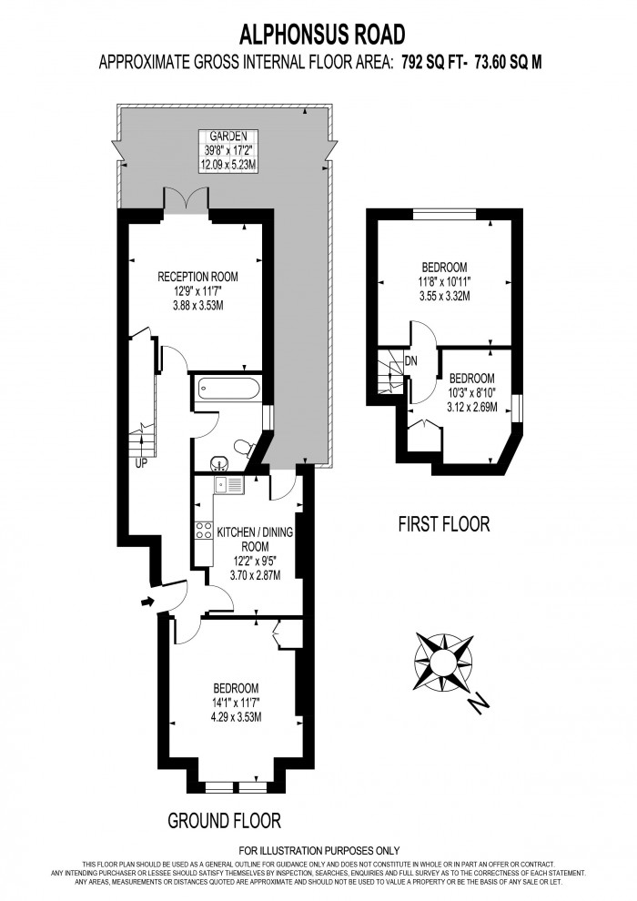 Floorplan for ST. ALPHONSUS ROAD, CLAPHAM,