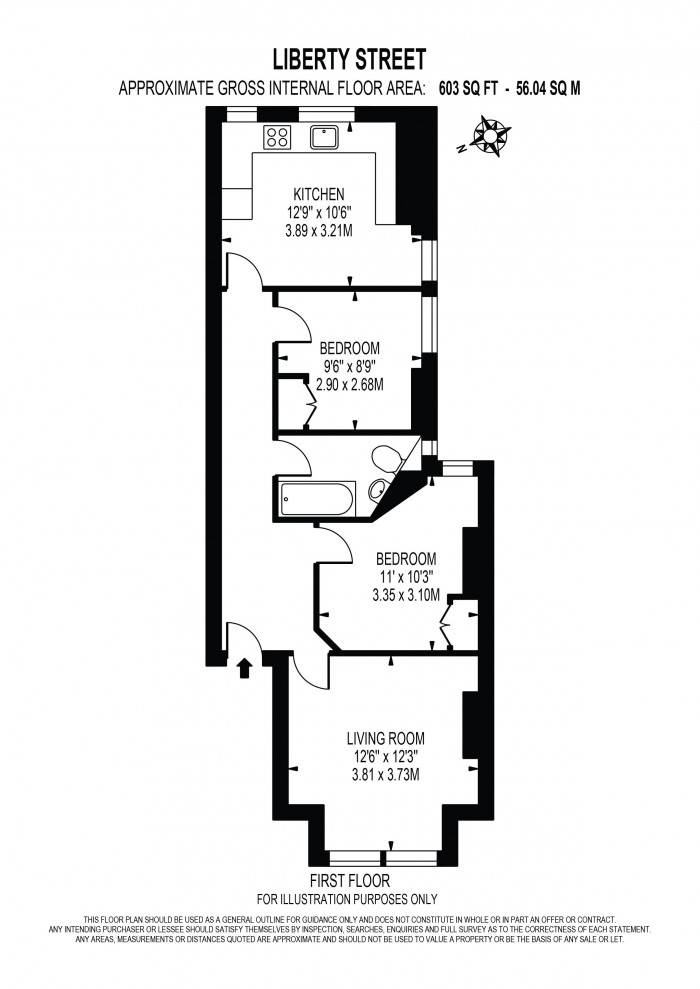 Floorplan for LIBERTY STREET, OVAL